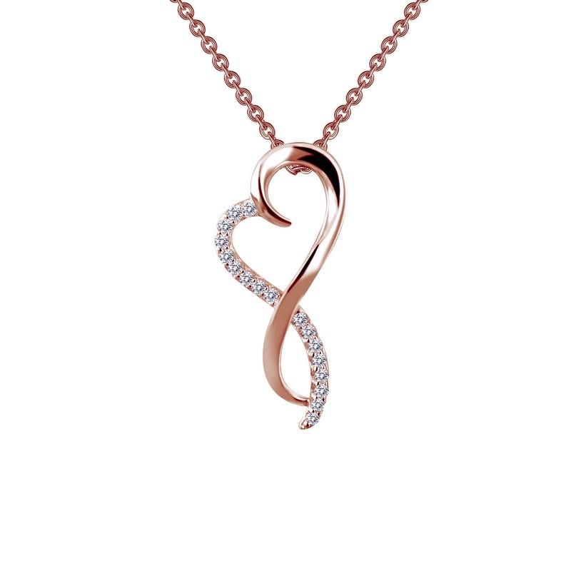 Colgante Fluid Heart Oro Rosado