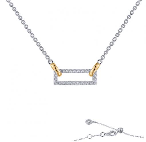Collar Gold Rectangle
