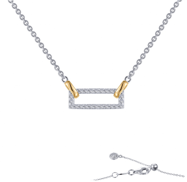 Collar Gold Rectangle