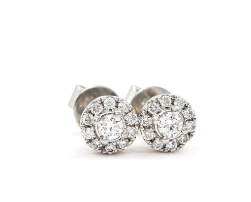 Aros Diamond en oro blanco