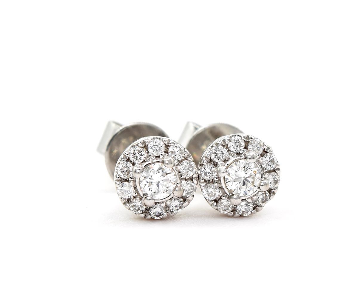 Aros Diamond en oro blanco