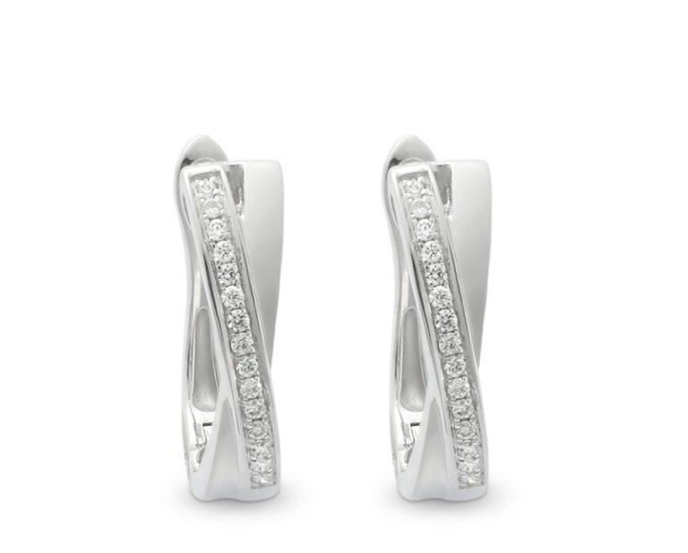 aros modelo cross 01 1  Producto Oro Blanco, 30 diamantes que suman 9 puntos en total
