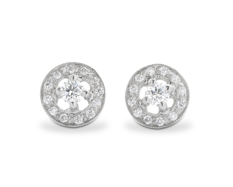 Aros Halo Diamantes simple