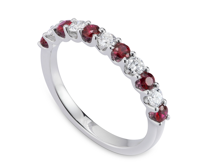 Anillo de Compromiso Modelo Absolute Ruby 3 JetWooBuilder Template