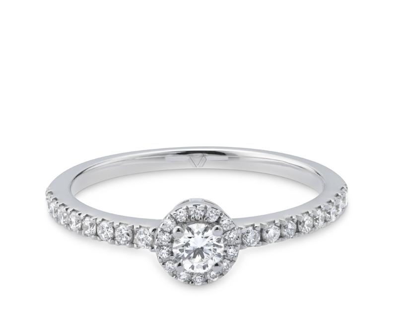 Anillo de compromiso modelo Solitario Grace 1 1  Producto <p>Oro Blanco 18k y Diamantes.</p>