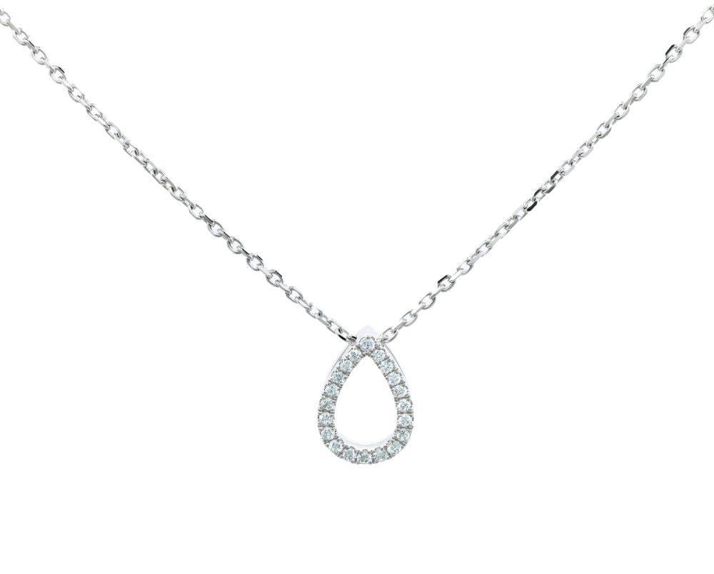 Colgante Lumiere uno Oro 18k Blanco, con Diamante. No incluye cadena.