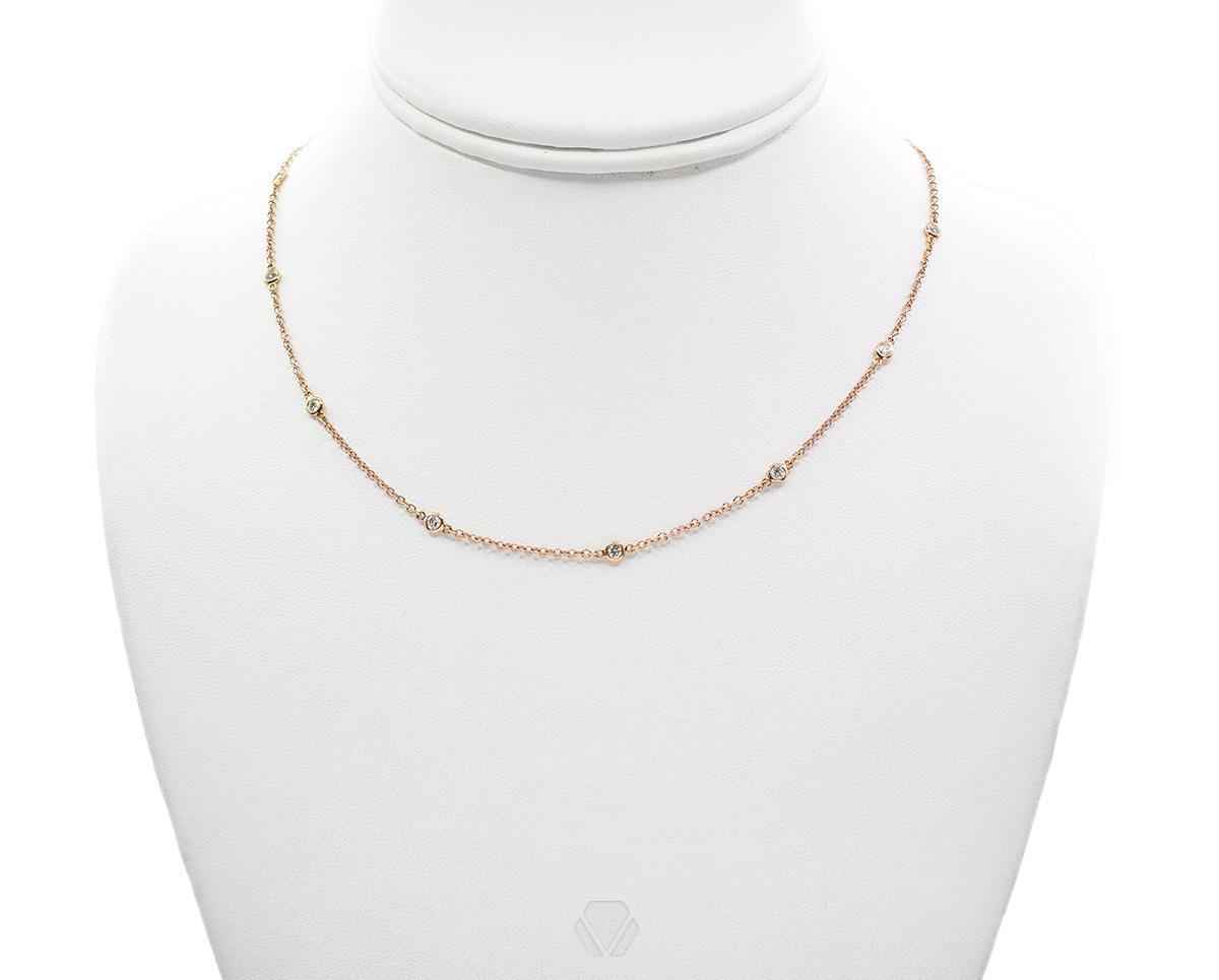 Oro Rosa 18k y 13 Diamantes que suman 51 pt