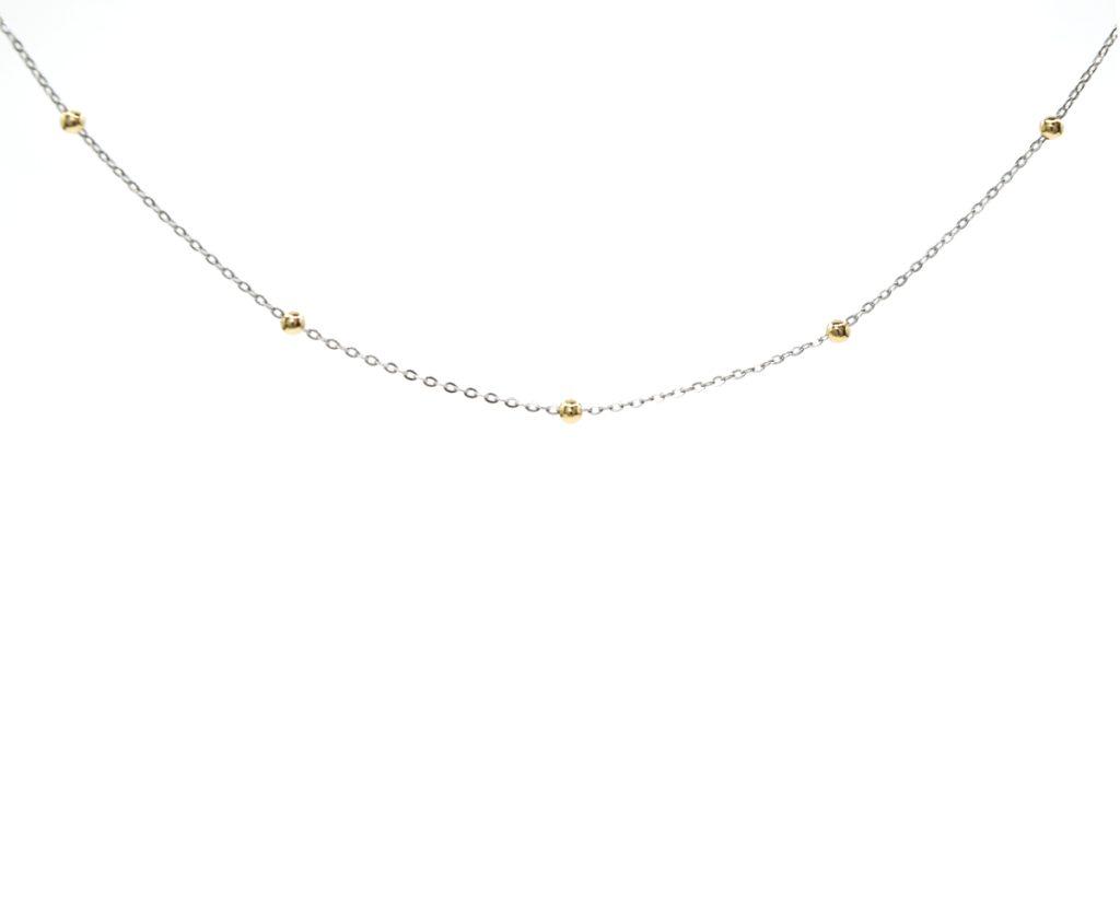 Colgante Oro Amarillo con Oro blanco