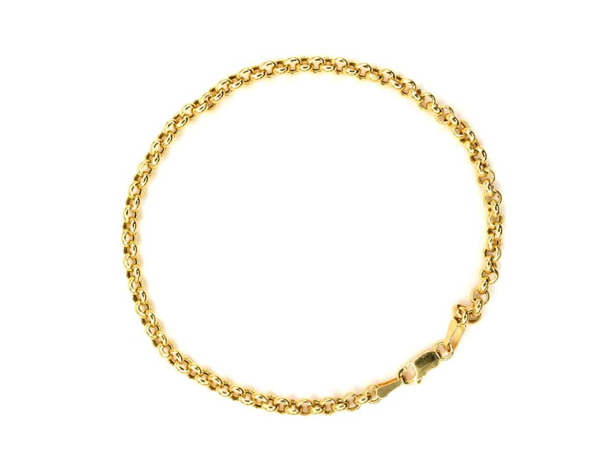 Pulsera Oro Amarillo 18k. 18 cm.