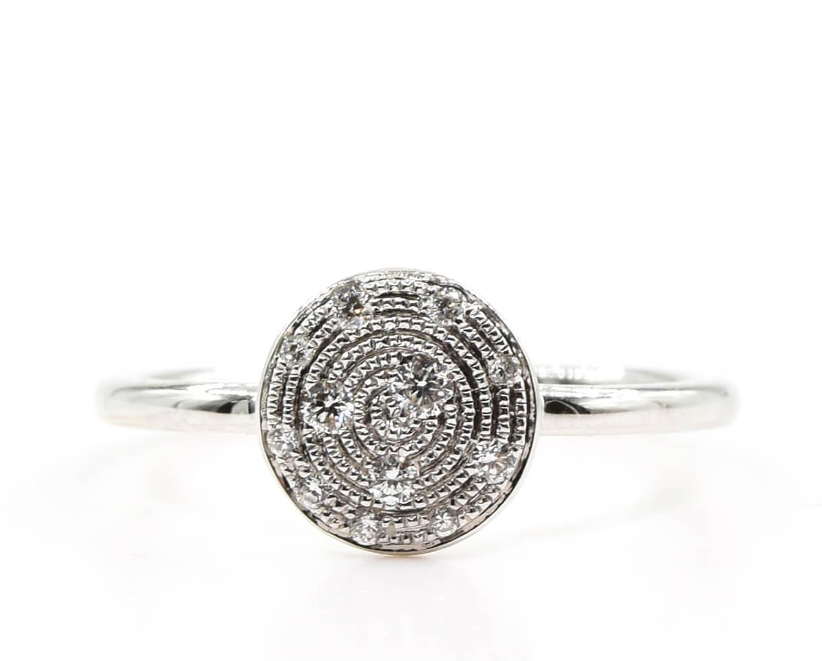 Cosmos OB 3  Producto Oro Blanco o Rosa 18k y 18 Diamantes que suman 17 pt