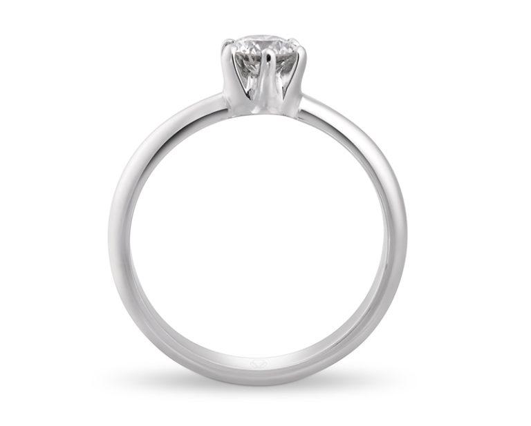 Anillo de compromiso Malka Oro Blanco 18k, o Platino, con Diamante