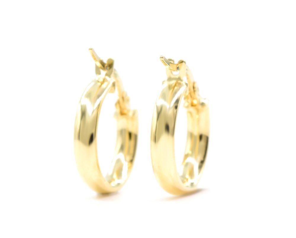 Aros Argolla de Oro Amarillo 18k