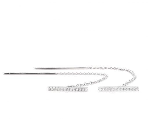 AROS Oro Blanco 18k con Diamantes.