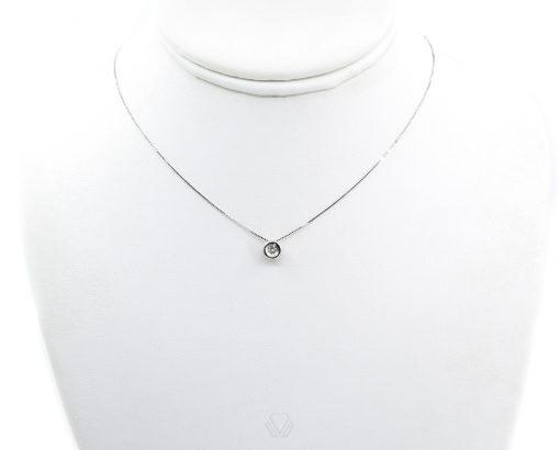 Punto de Luz Oro Blanco o Amarillo 18k, con Cadena y Diamante