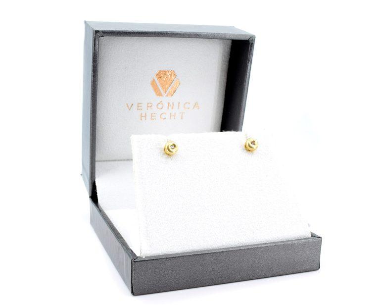Aros Oro Amarillo 18k, u Oro Blanco 18k, con Diamante