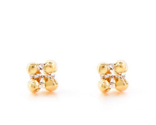 Aritos Abridores Oro Amarillo 18k, u Oro Blanco 18k, con Diamante