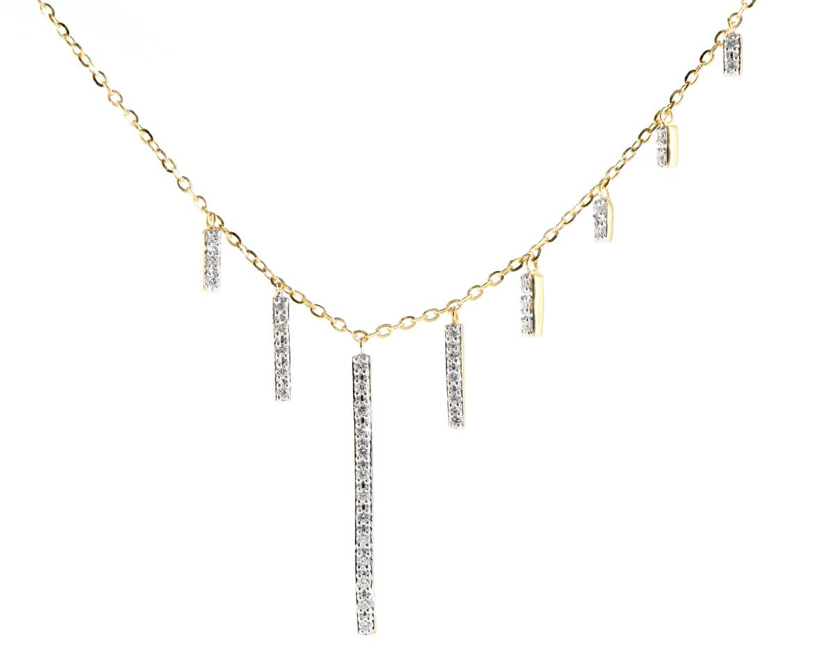 Collar Spirit Oro Amarillo 18k, con Diamante. Incluye cadena.