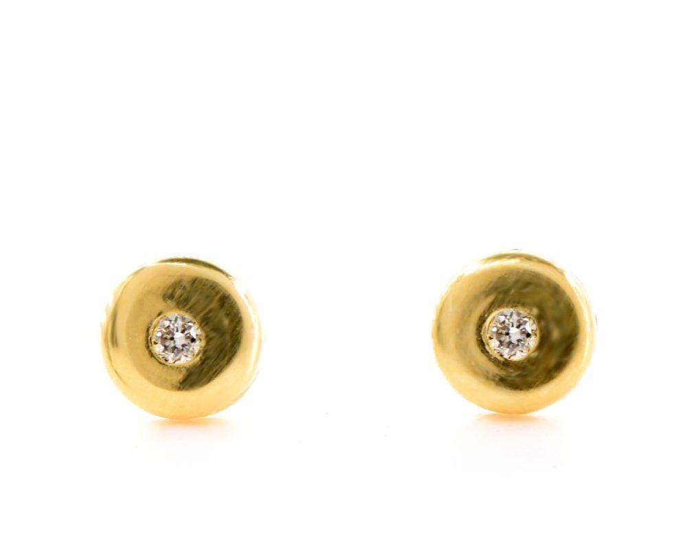 Abridores de bebe Yayu Oro Amarillo 18k con 2 Diamante brillante 1 pt