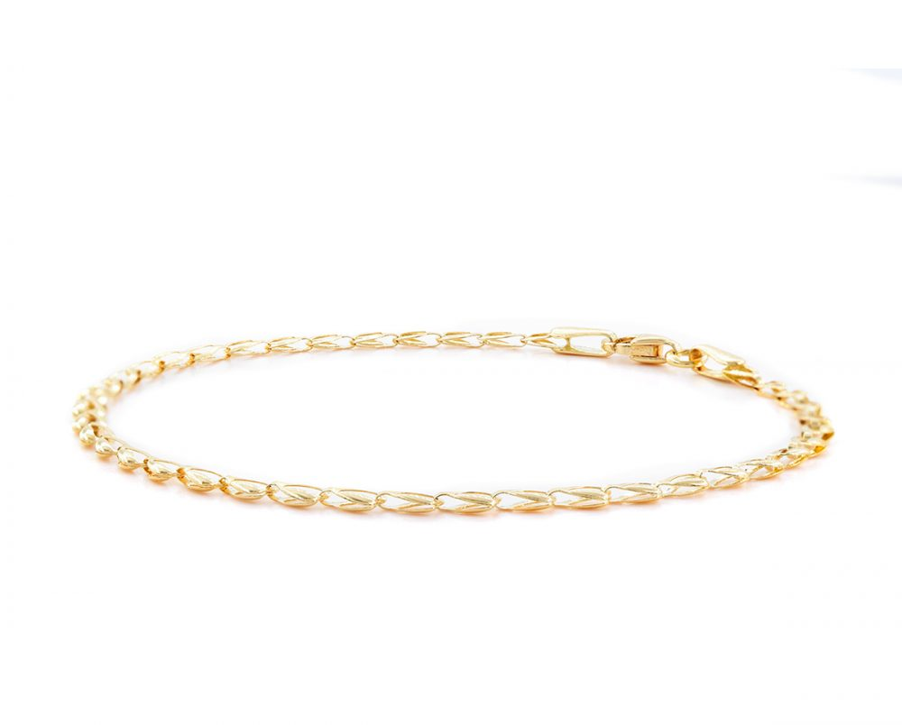 Pulsera Loyalty Oro Amarillo 18k Largo: 18 cm; 1.5 g