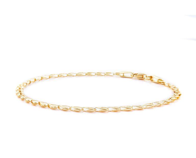 Pulsera Loyalty Oro Amarillo 18k Largo: 18 cm; 1.5 g