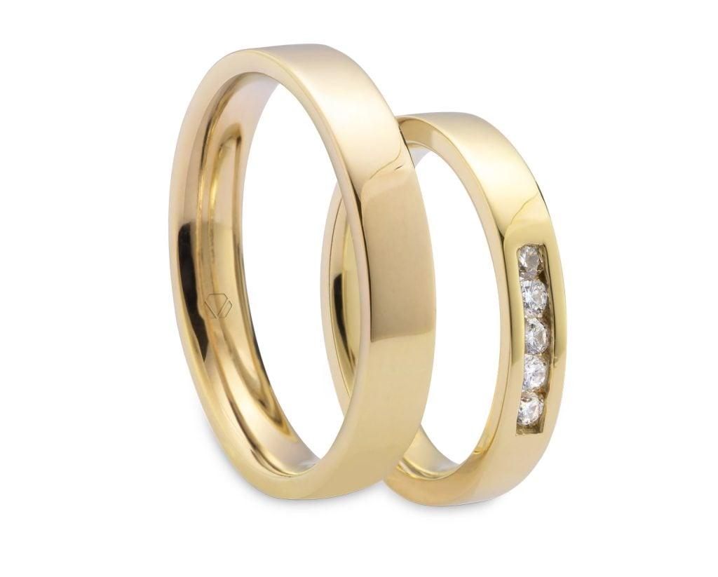 Argollas Viena OA 2 Producto Oro Amarillo 18k, u Oro Blanco 18k, u Oro Rosa 18k, o Platino, con 5 Diamante brillante 3 pt